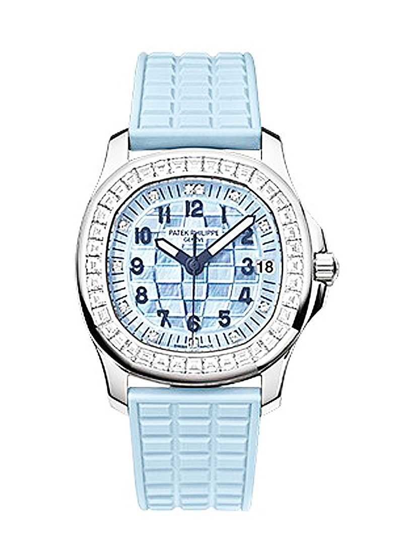 Patek Philippe 5072G-001  Aquanaut Luce in White Gold with Baguette Diamond Bezel