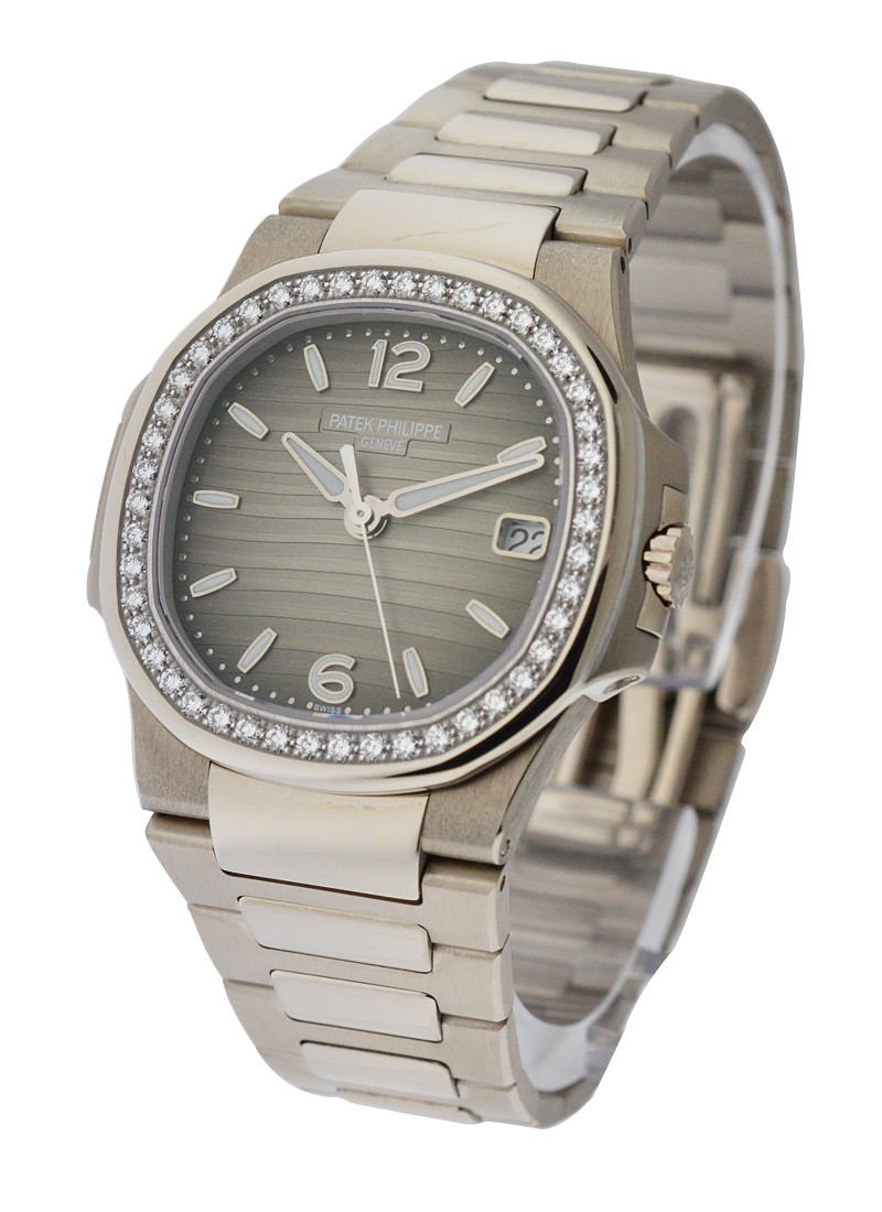 Patek Philippe Nautilus 7010/1G-012 in White Gold with Diamond Bezel