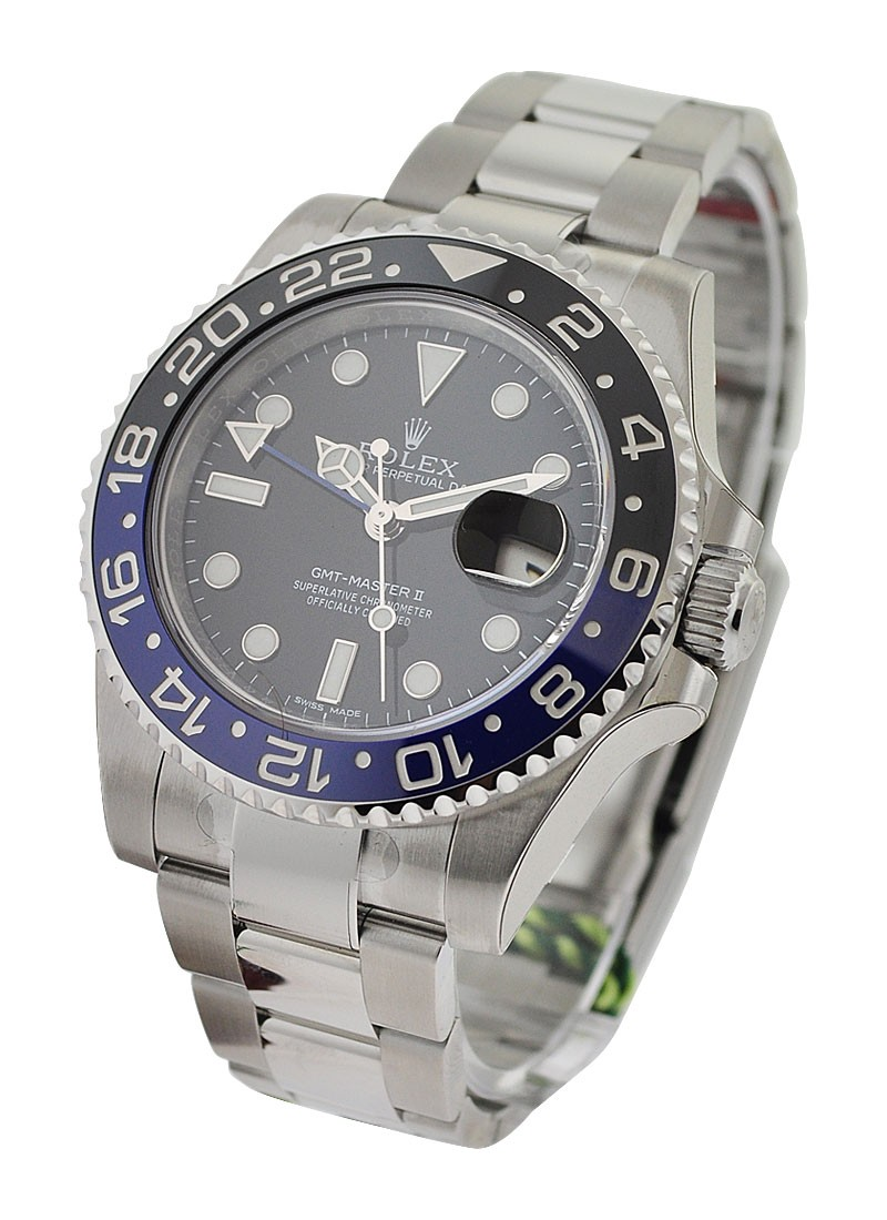 Rolex Unworn GMT Master II 116710 in Steel with Black and Blue Ceramic Bezel