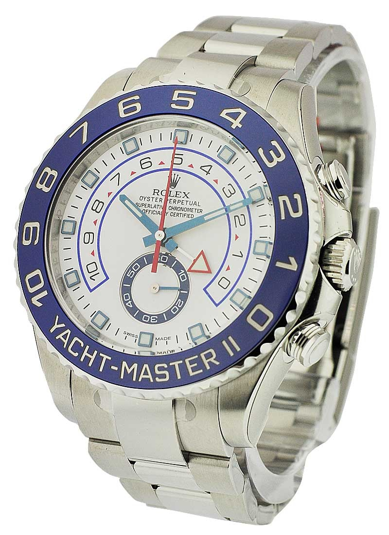 Rolex Unworn Yacht Master II in Stainless Steel with Blue Ceramic Bezel
