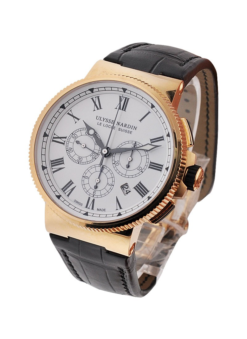 Ulysse Nardin Marine Chronograph in Rose Gold   Limited Edition of 150 pcs