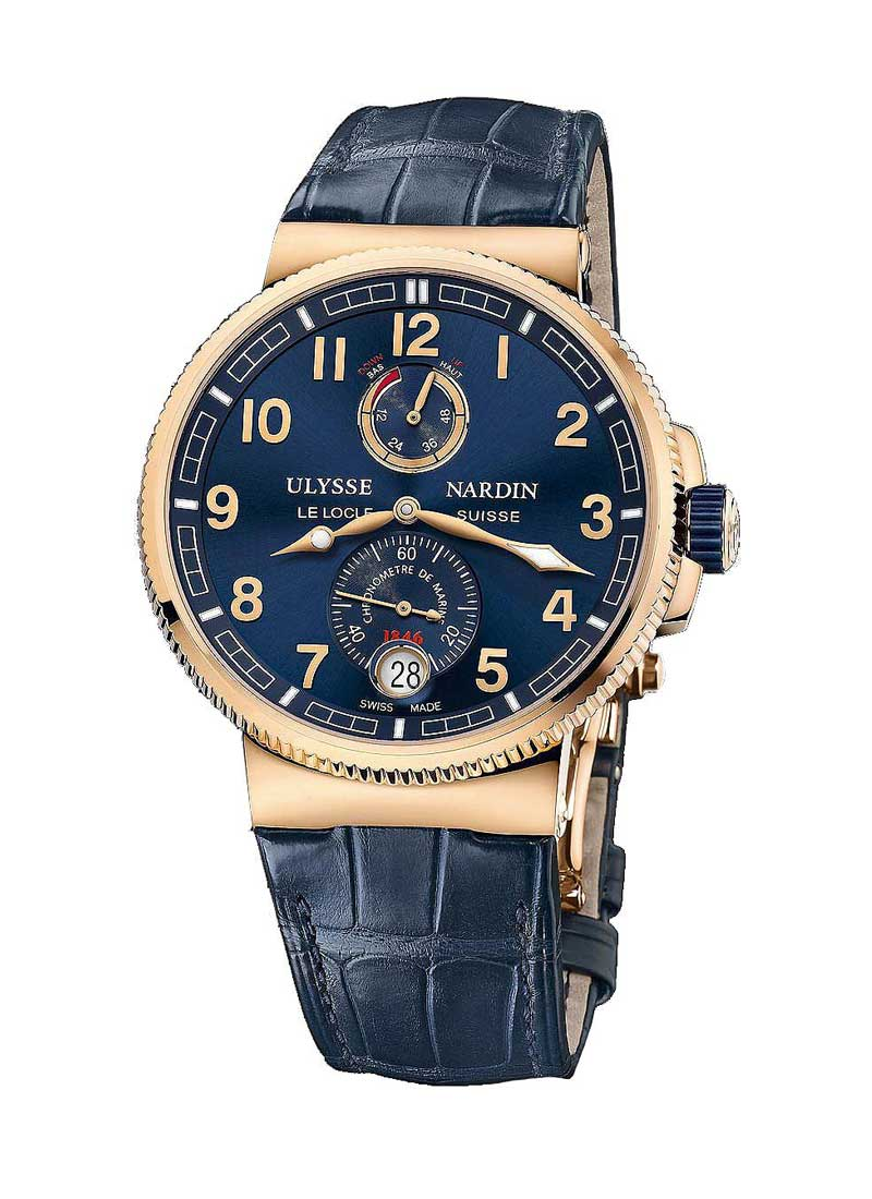 Ulysse Nardin Marine Chronometer 43mm in Rose Gold