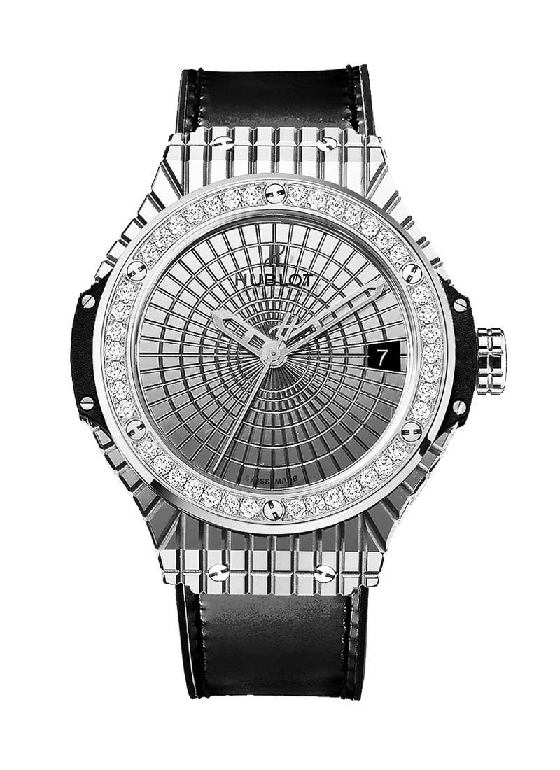 Hublot Big Bang 41mm Caviar in Steel with Diamond Bezel