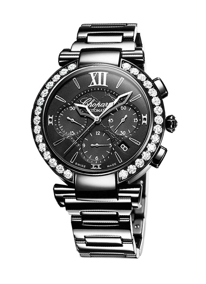 Chopard Imperiale Chrono All Black -in DLC Steel with  Diamond Bezel