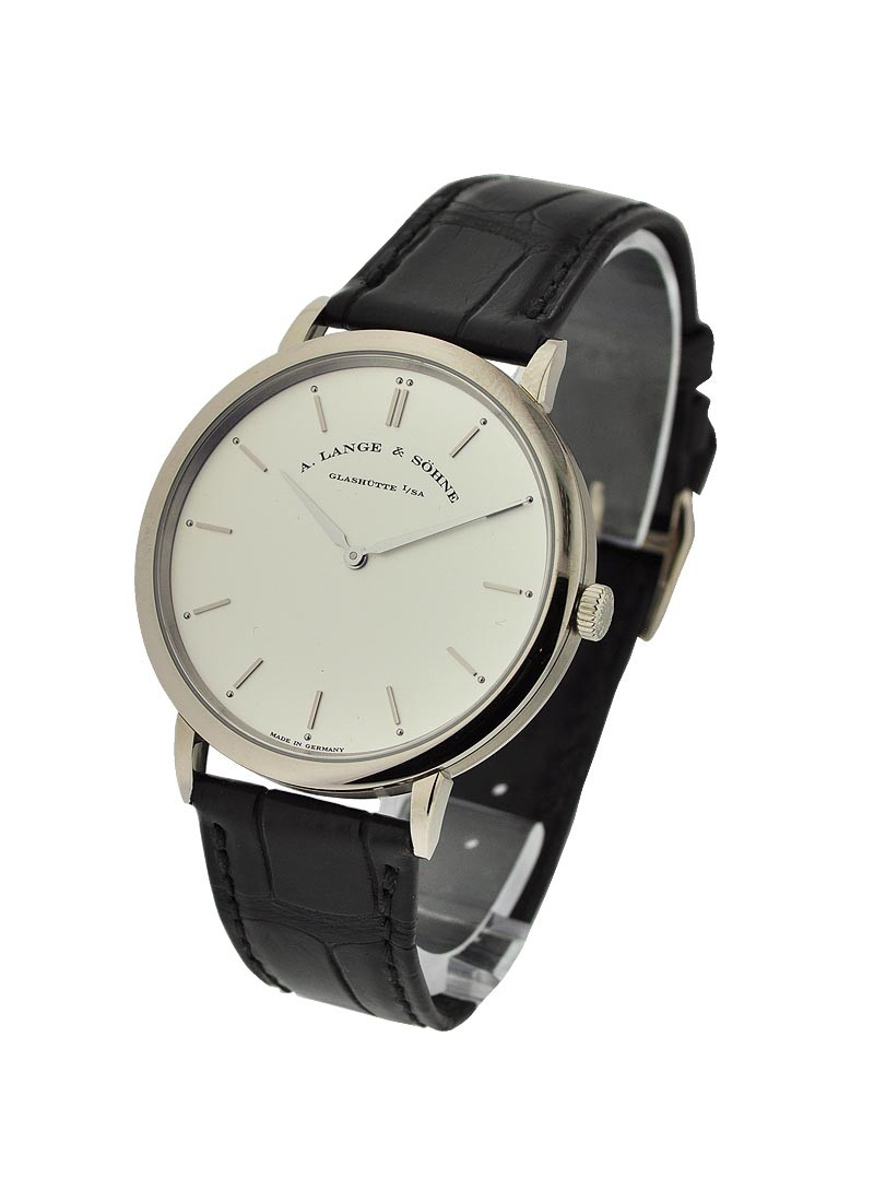 A. Lange & Sohne Saxonia Thin Mens Manual in White Gold