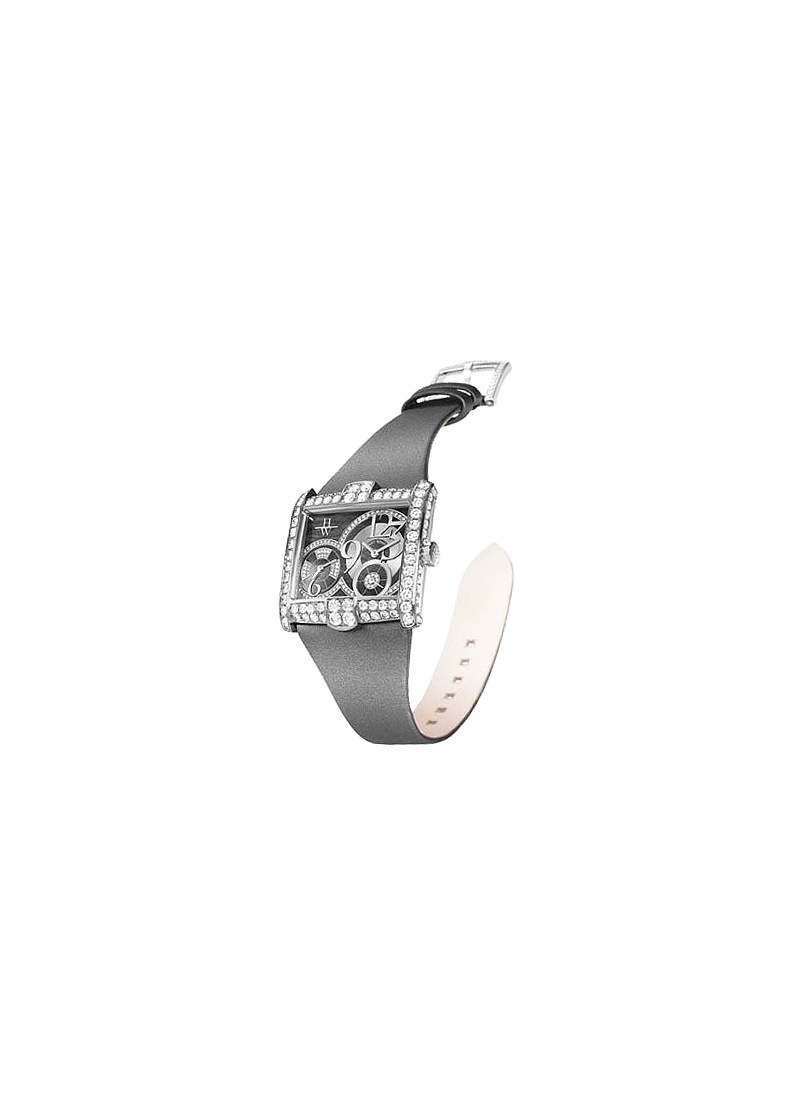 Harry Winston Avenue C Ladies Double  Quartz  in White Gold
