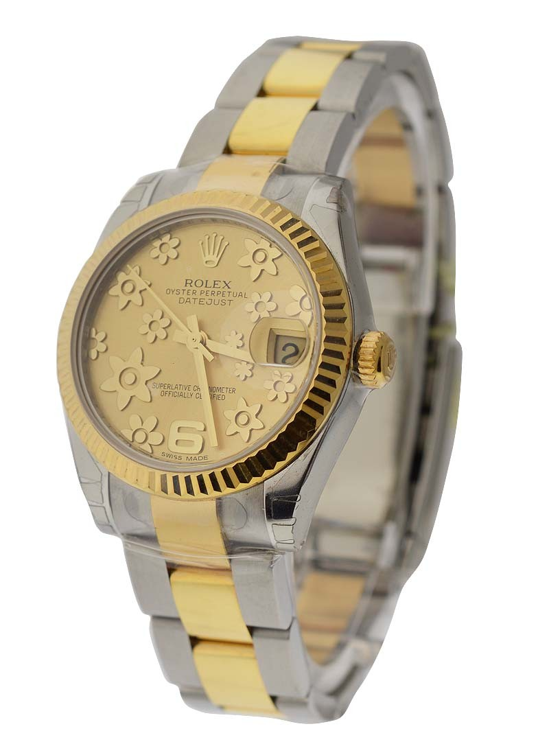 Rolex Unworn Midsize 31mm Datejust in Steel and Yellow Gold