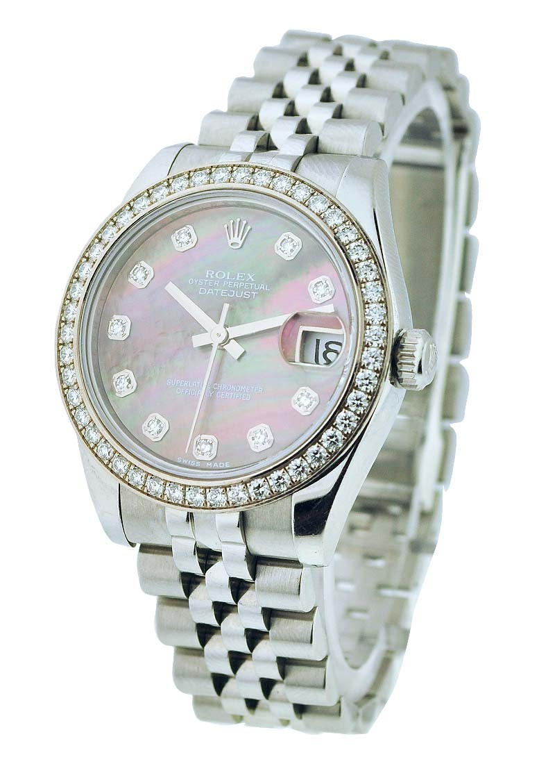 Rolex Unworn Ladies Datejust 26mm Steel with Diamond Bezel