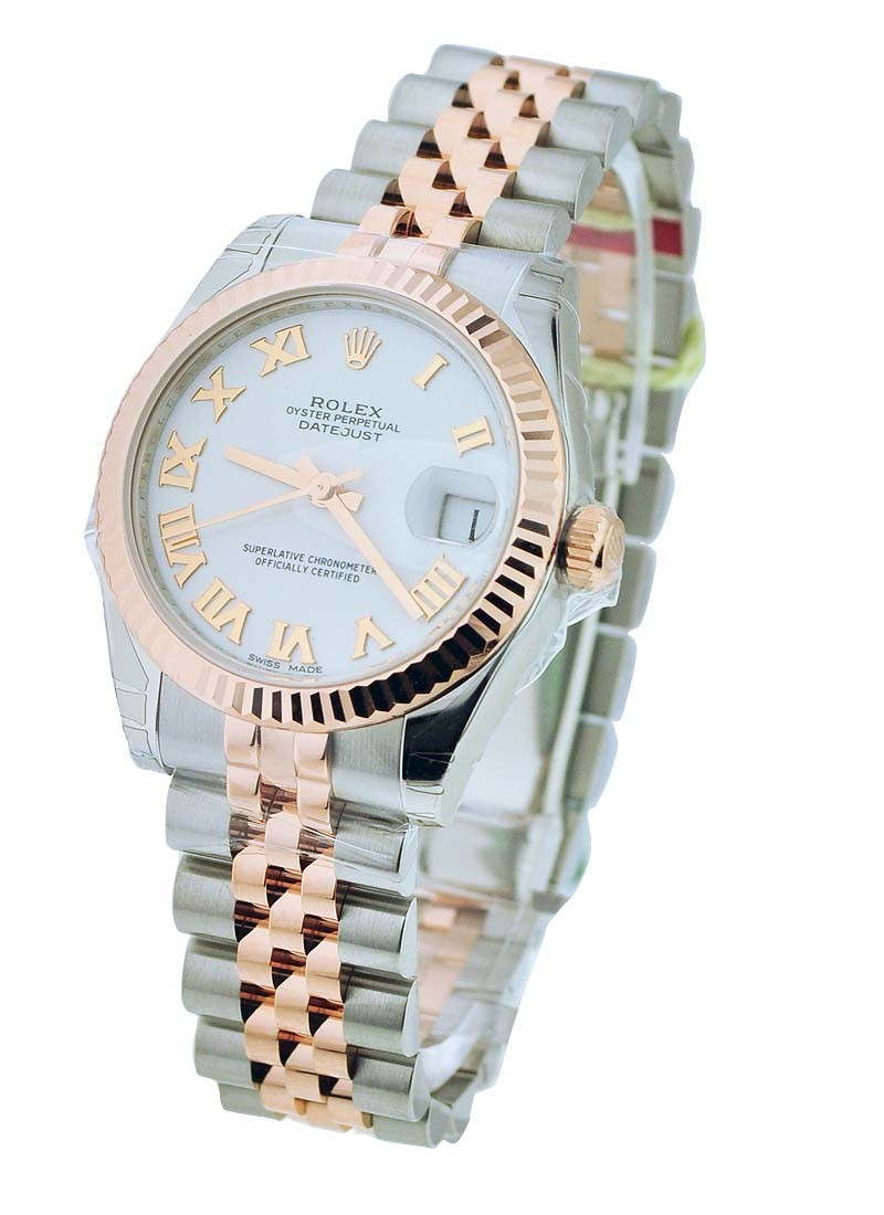 Rolex Unworn Mid Size 2 Tone Rose Gold & Steel Datejust