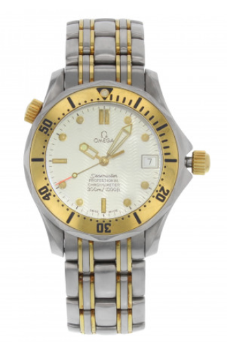 Omega Seamaster 300M 36mm Automatic in Steel and Yellow Gold Bezel