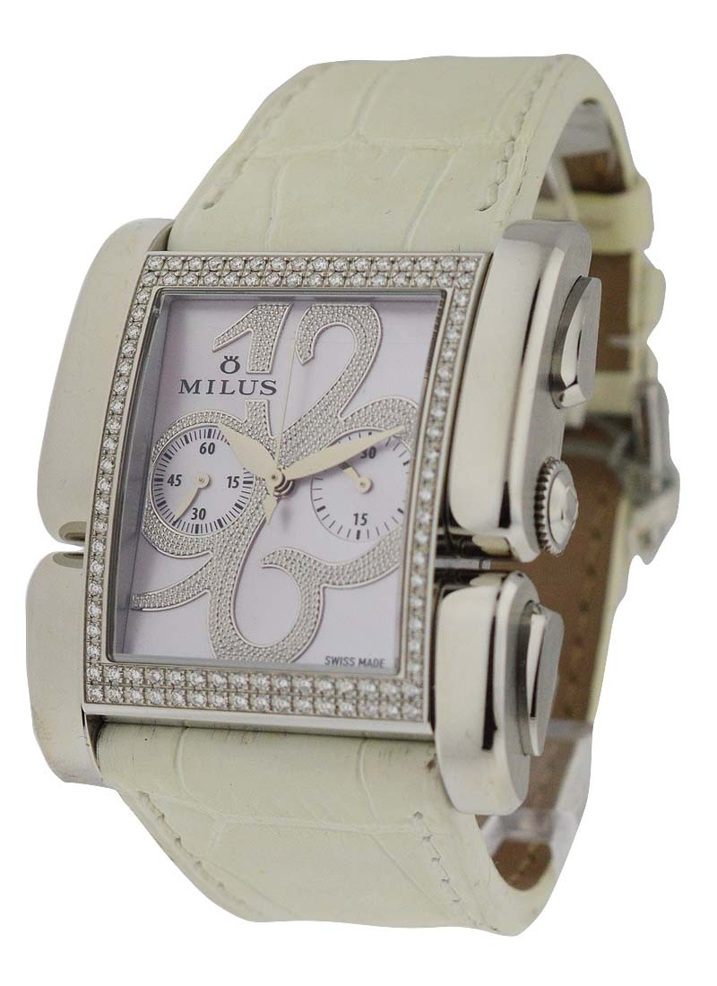 Milus Apiana Ladies Automatic in Steel with Diamond Bezel