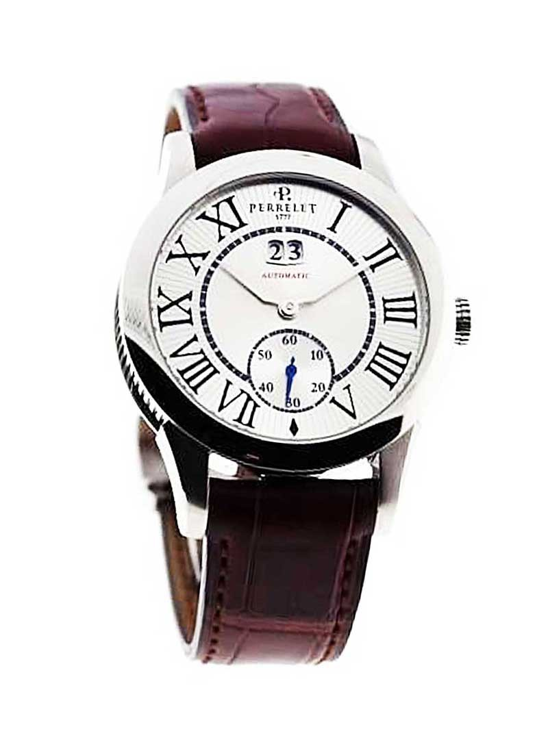 Perrelet Big Date Small Seconds Round Automatic in Steel