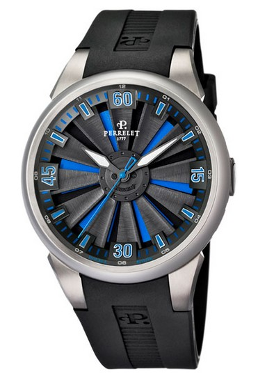 Perrelet  Turbine Larger Size Men's Automatic in Titanium