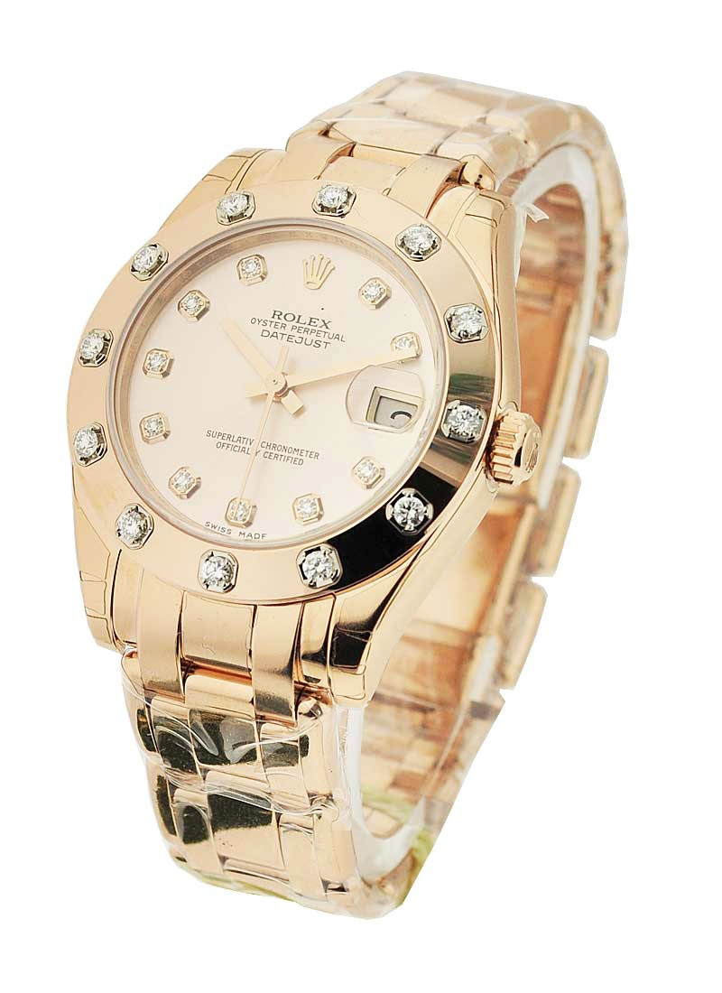 Rolex Unworn Masterpiece Midsize in Rose Gold with 12 Diamond Bezel