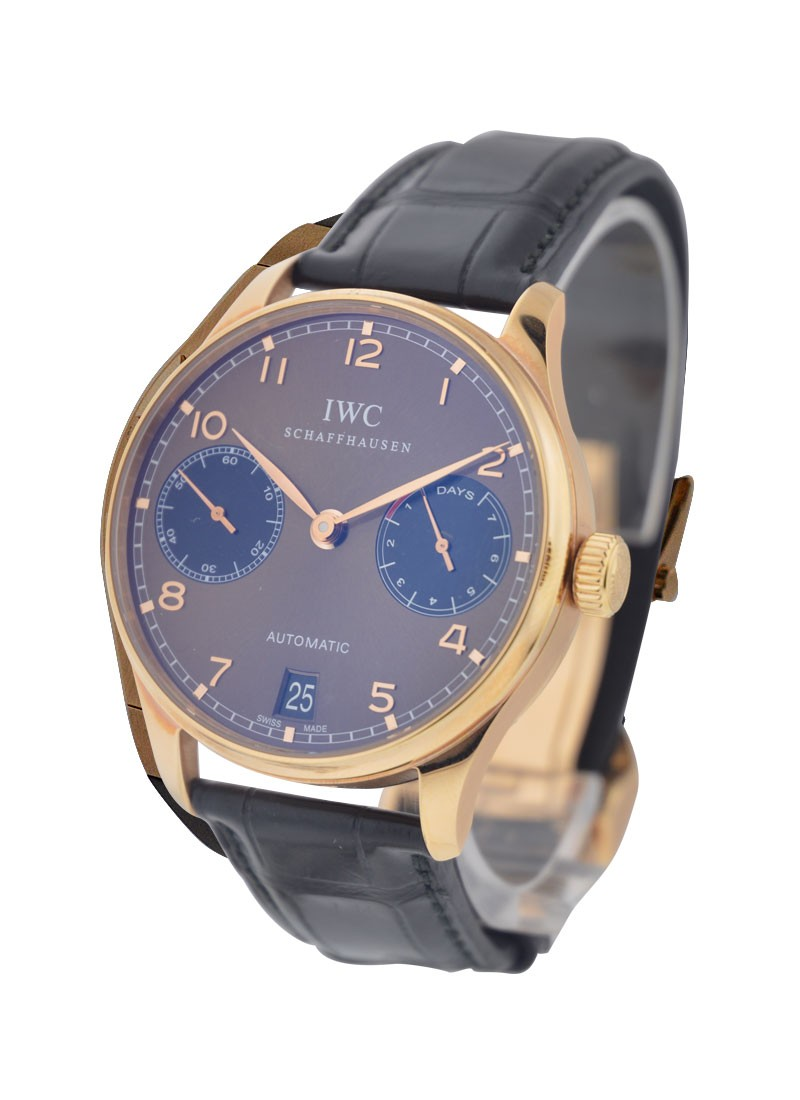 IWC Portuguese 7 Day Power Reserve in Rose Gold