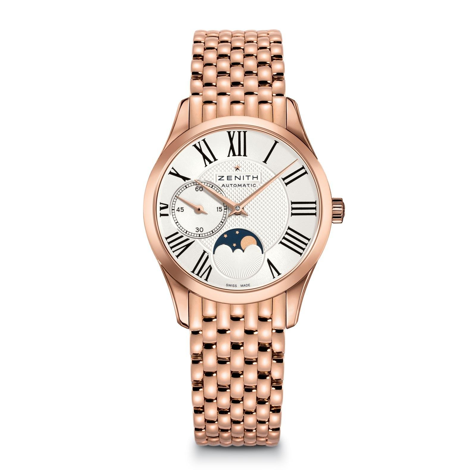 Zenith Elite Lady Ultra Thin Moonphase in Rose Gold