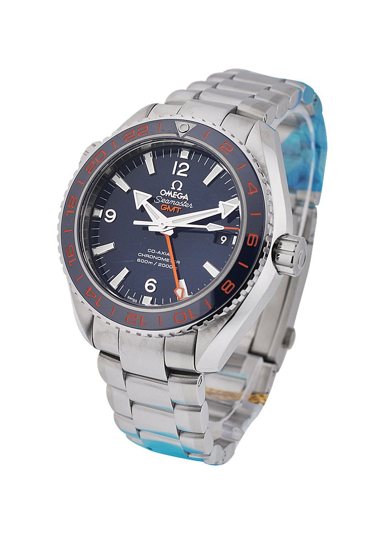 Omega Seamaster Planet Ocean GMT 42mm in Steel with Blue Bezel
