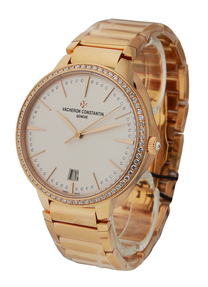 Vacheron Constantin Patrimony Contemporaine in Rose Gold with Diamond Bezel