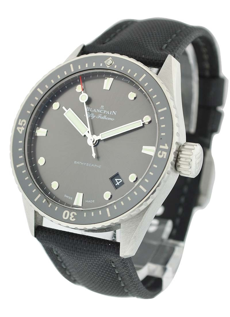Blancpain Fifty Fathoms Bathyscaphe 43mm Automatic in Stainless Steel