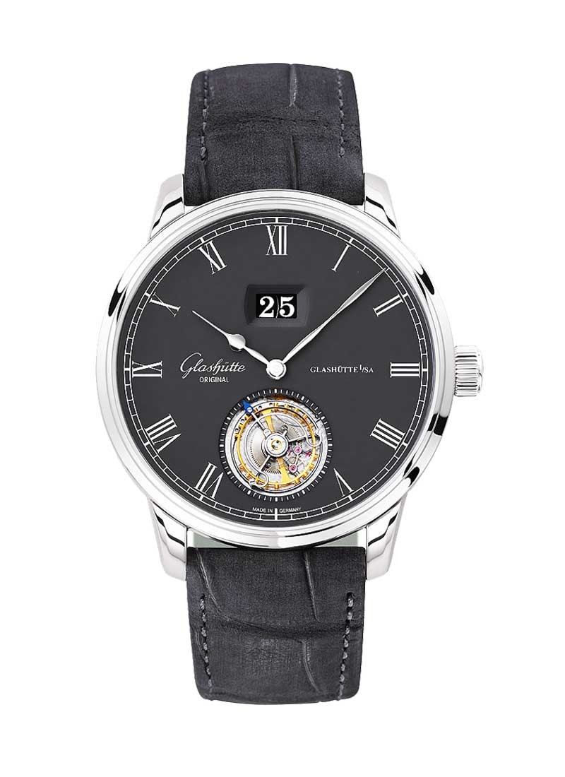 Glashutte Senator Tourbillon  42mm Automatic in White Gold
