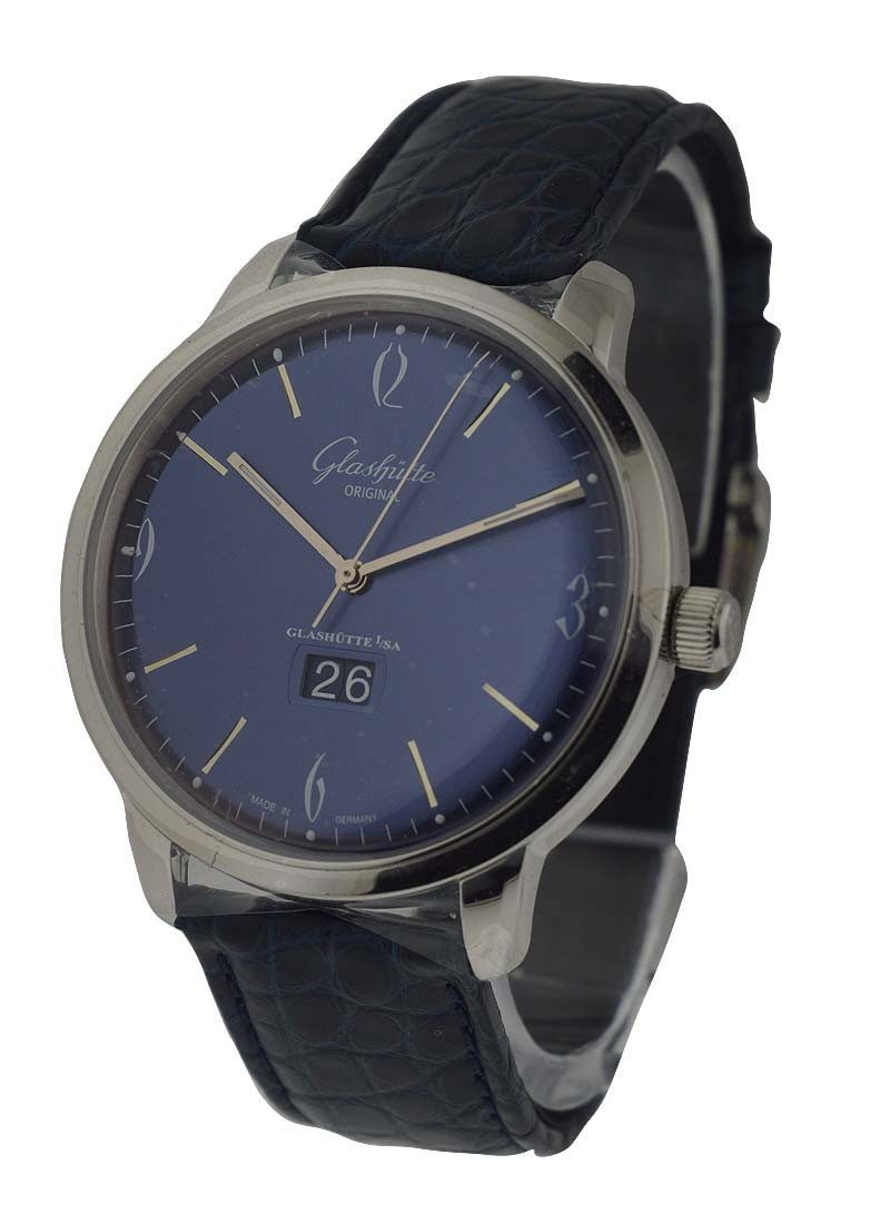 Glashutte Senator Sixties Panorama Date Automatic in Steel