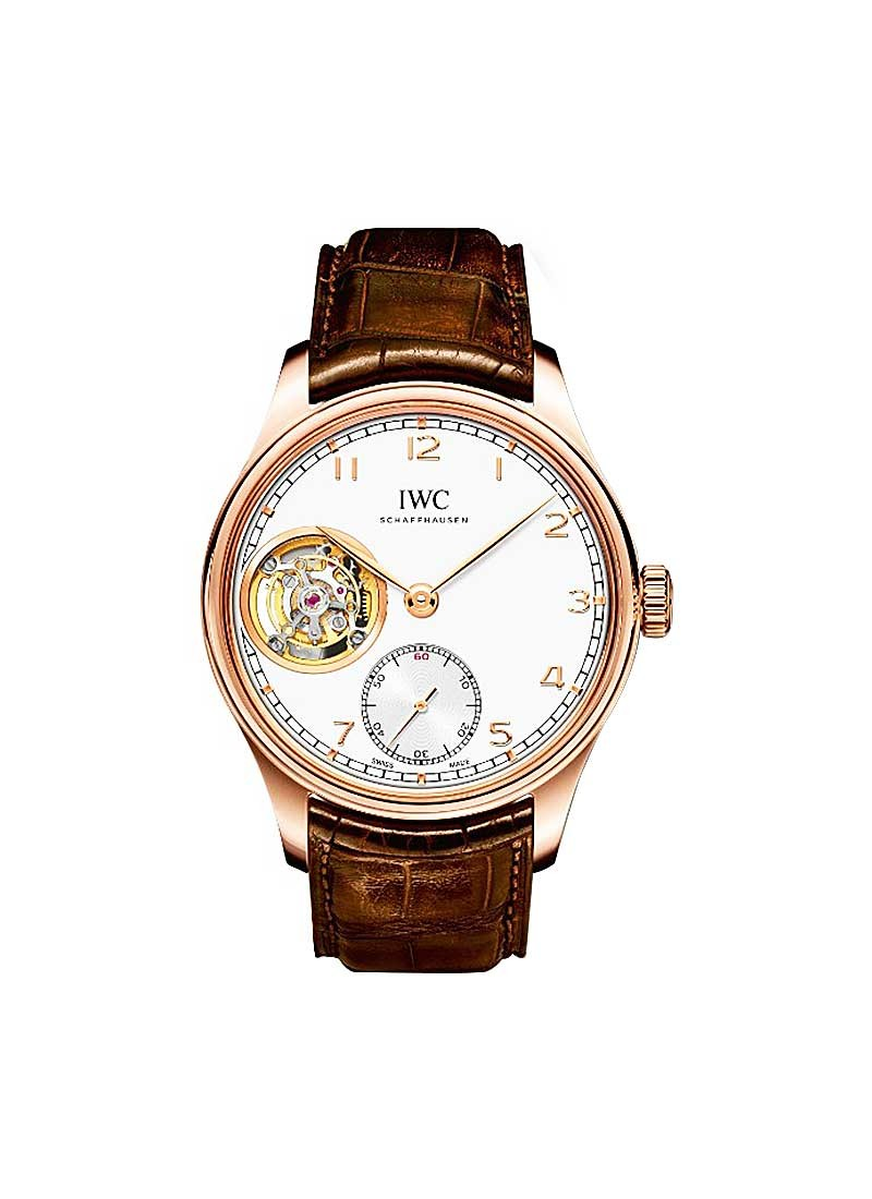 IWC Potuguese Tourbillon Hand Wound Manual in Rose Gold
