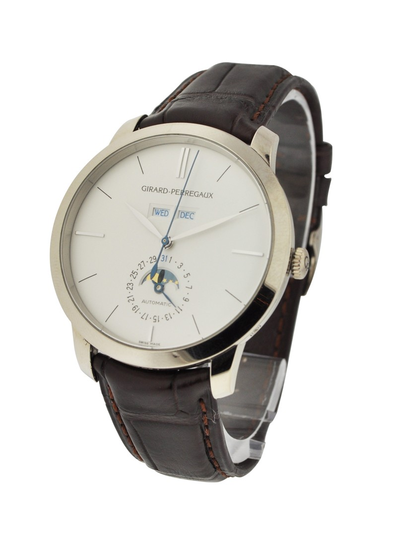 Girard Perregaux Vintage 1966 Full Calendar Moonphase in White Gold