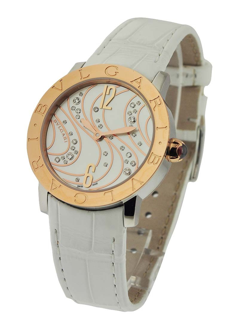 Bvlgari Bvlgari-Bvlgari Two-Tone Rose Gold and Steel
