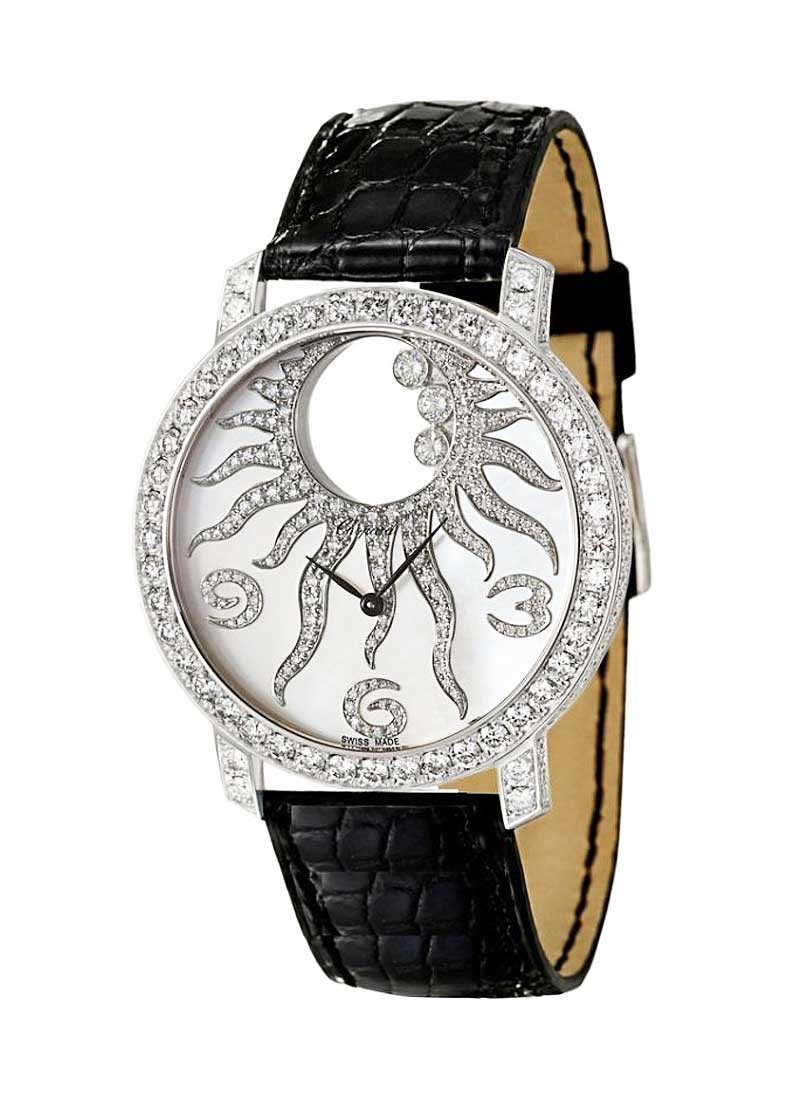 Chopard Women''s Happy Sun Watch with Diamond Bezel