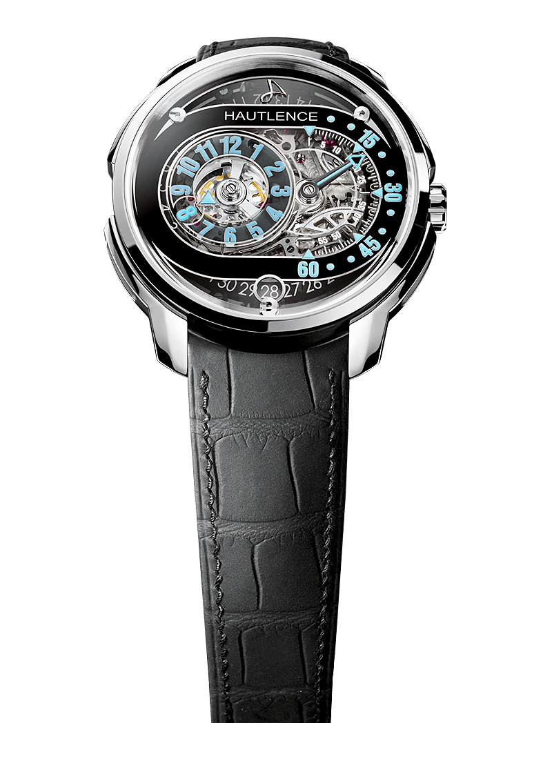Hautlence HLRQ Men''''s Manual in Polished Steel and Titanium