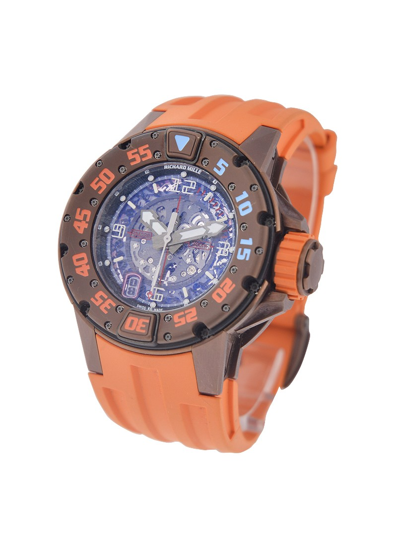 Richard Mille RM 028 in Brown Titanium with Orange Accents