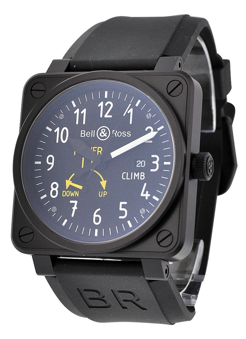 Bell & Ross Aviation BR 01 97 Power Reserve Climb in PVD Steel