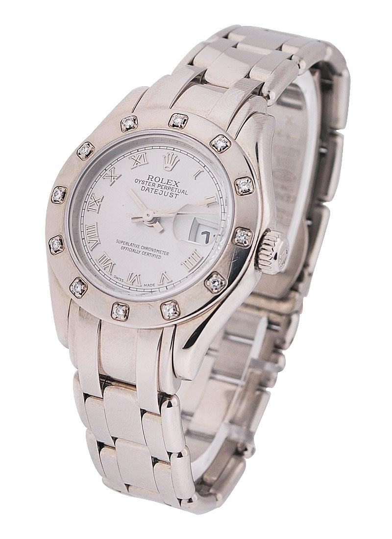 Pre-Owned Rolex Masterpiece in White Gold with 12 Diamond Bezel
