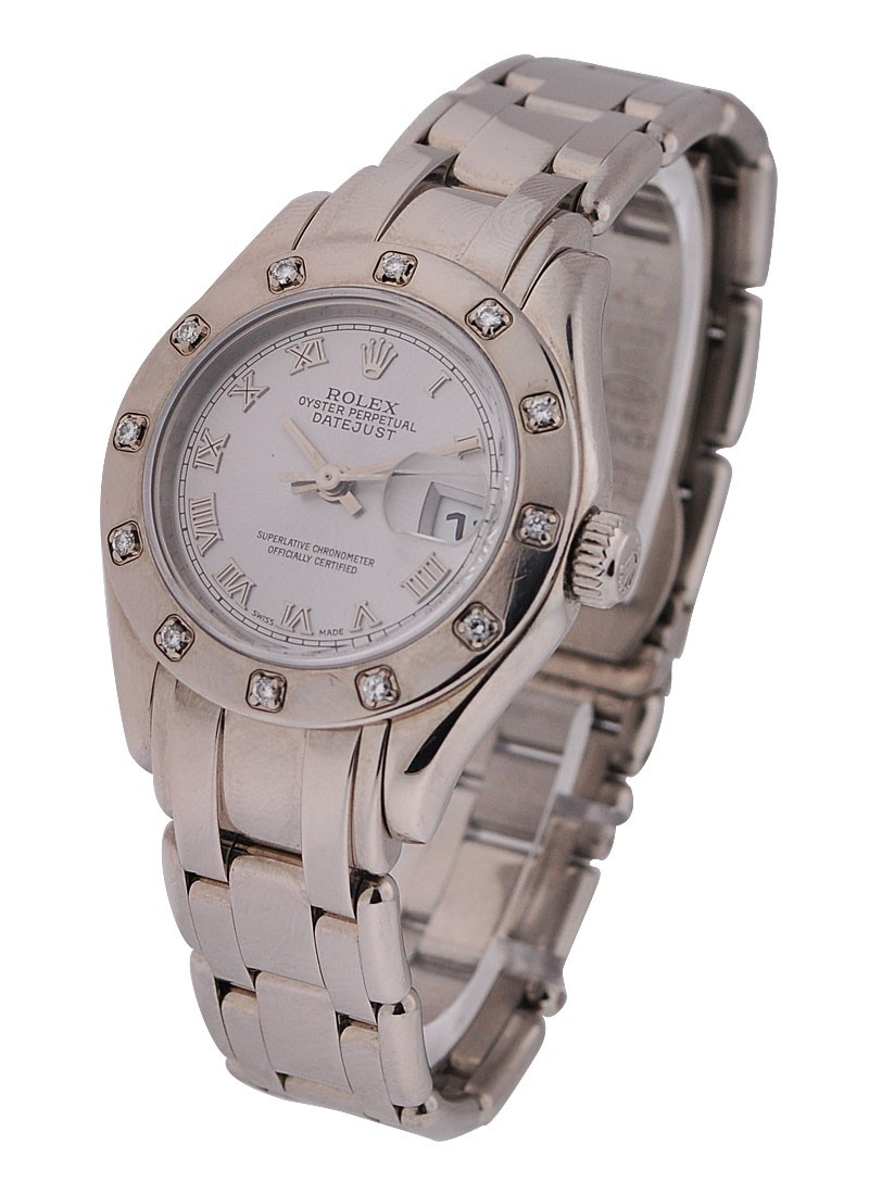 Rolex Used White Gold Ladies Masterpiece 80319
