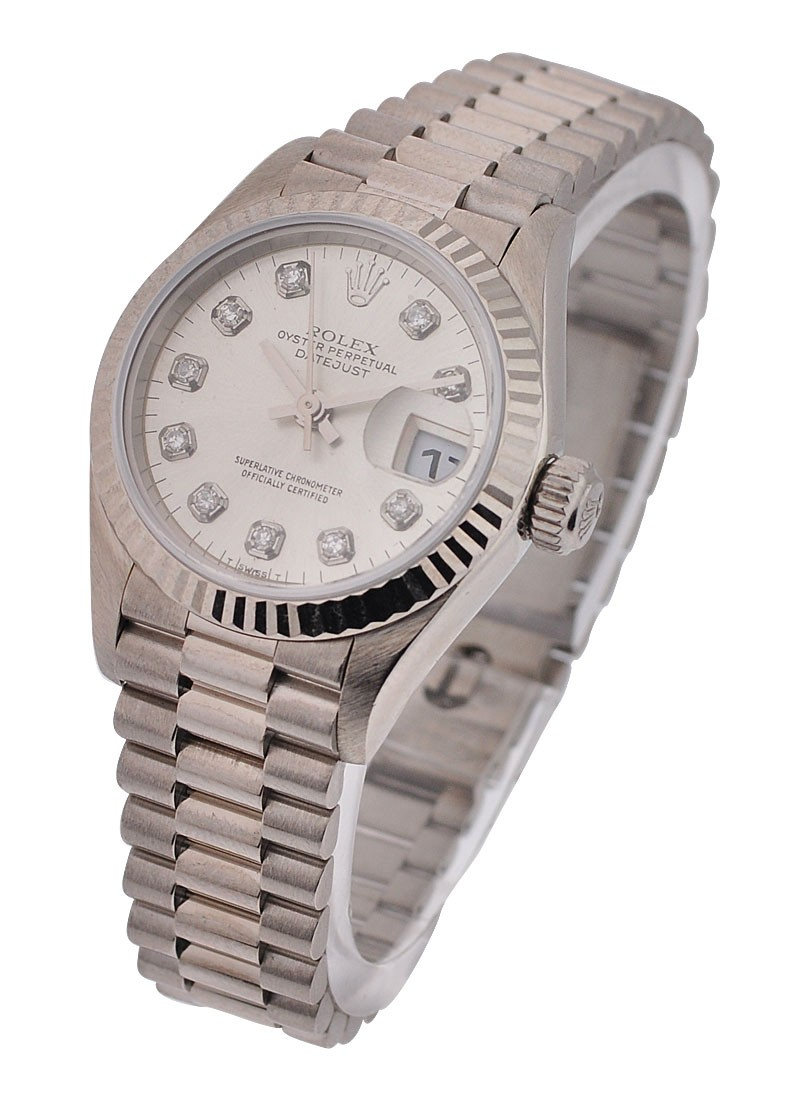 Rolex Used Ladies White Gold President 79179