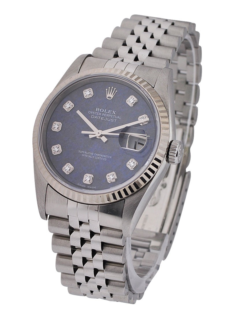 Rolex Used Datejust 36mm with Blue Diamond Dial