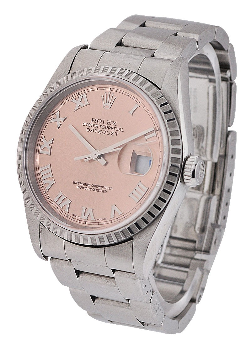 Rolex Used Datejust in Steel with Engine turned Bezel