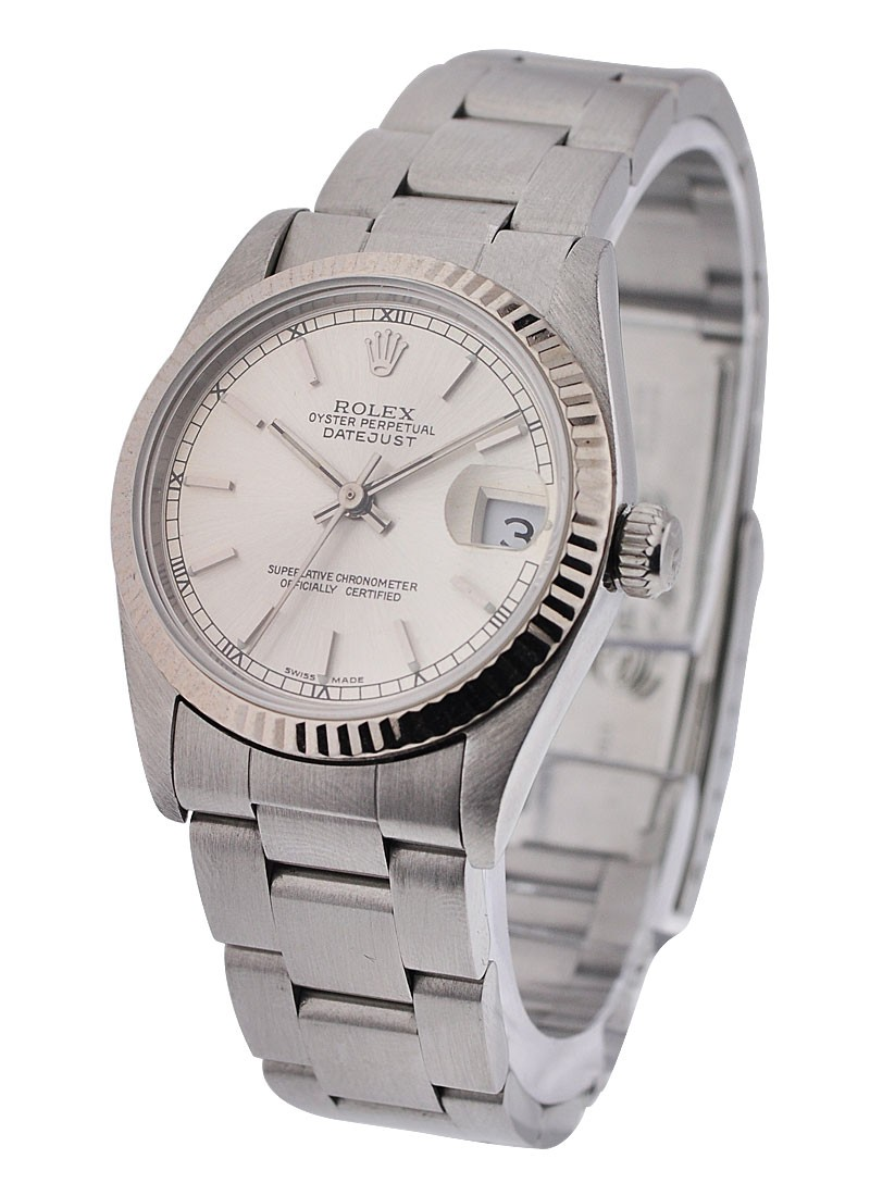 Rolex Used Steel Mid Size Datejust 78274 with Oyster Bracelet
