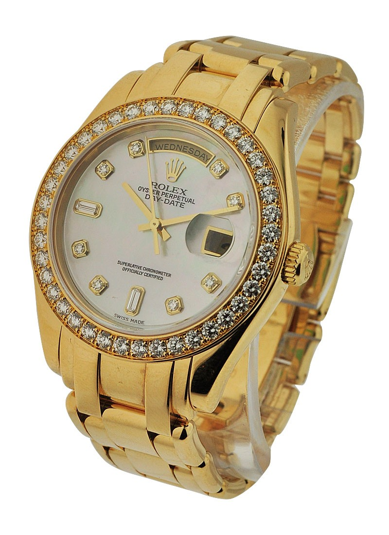 Rolex Used Masterpiece Yellow Gold Day Date with Diamond Bezel