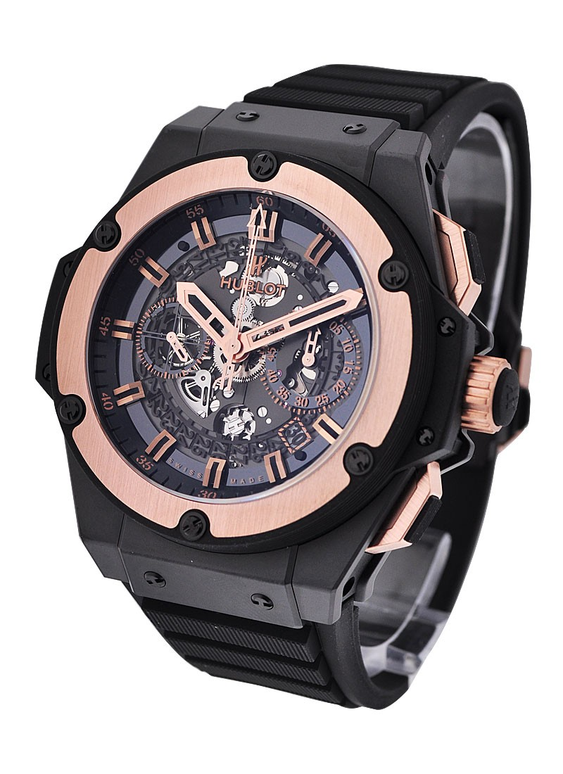 Hublot King Power Unico in Ceramic with Rose Gold Bezel