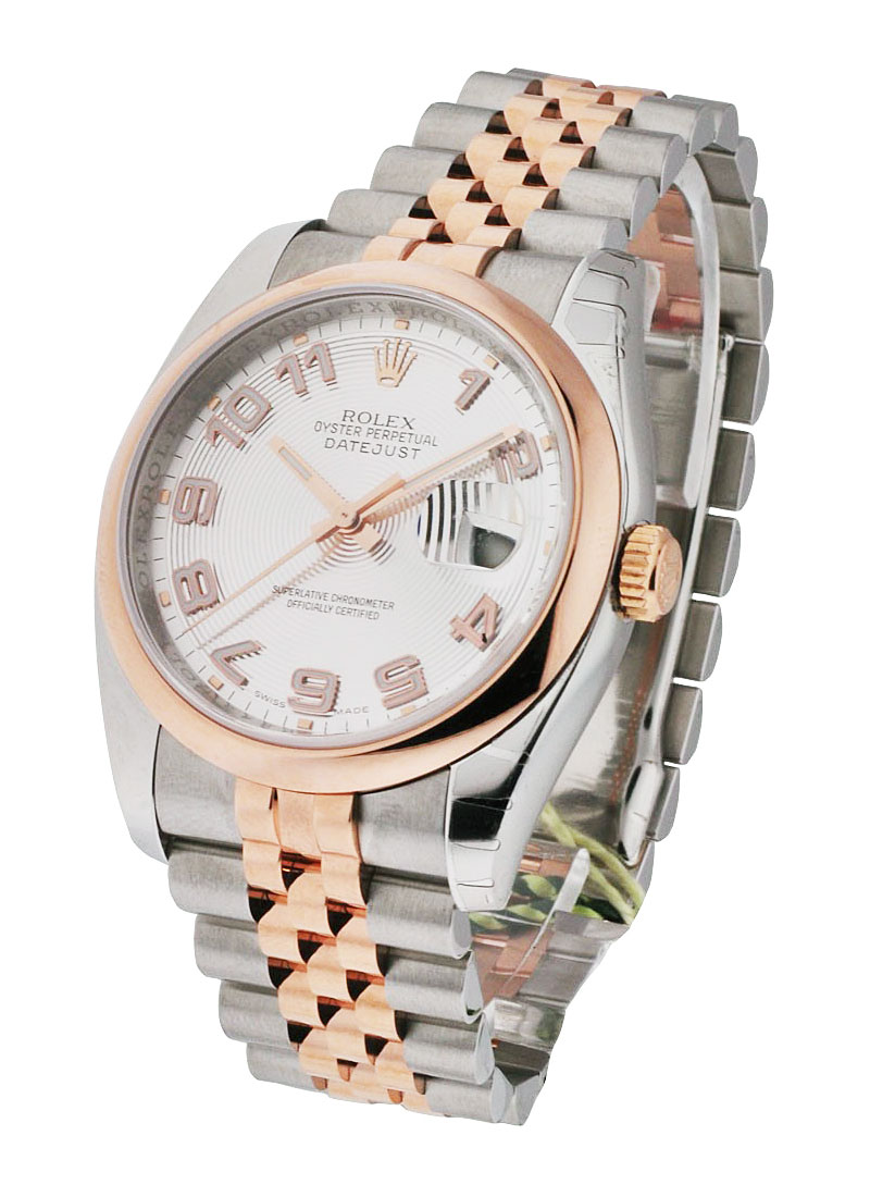 Rolex Unworn Datejust 36mm in Steel with Rose Gold Domed Bezel