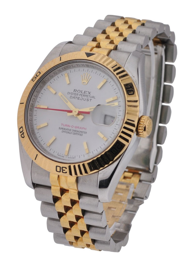 Rolex Used Turn O Graph 2 Tone Datejust