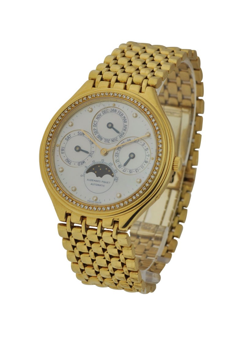 Audemars Piguet Quantieme Perpetual Yellow Gold - Diamond Bezel