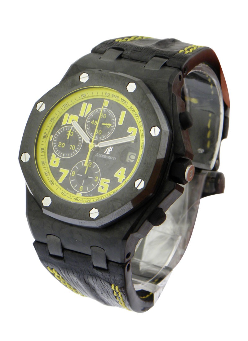 Audemars Piguet Royal Oak Offshore Carbon Bumble Bee in Forged Carbon with Ceramic Bezel