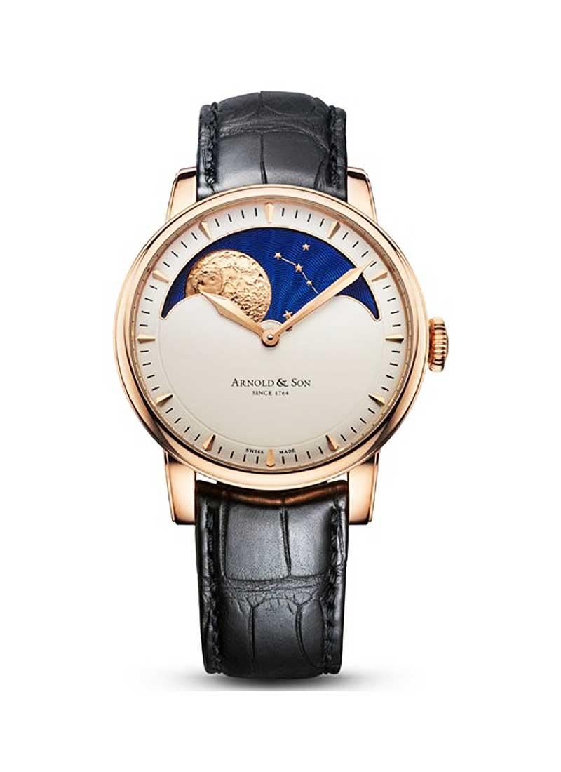 Arnold and Son HM Perpetual Moon 42mm in Rose Gold