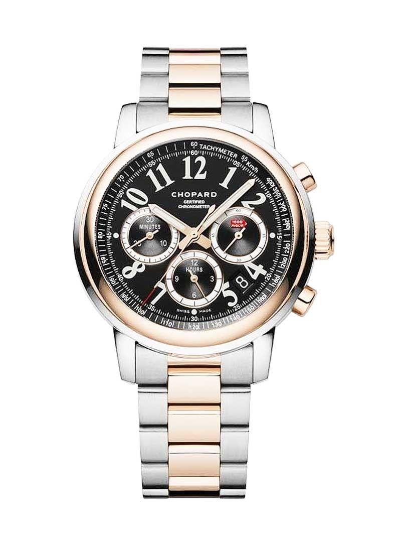 Chopard Millie Miglia Automatic Chronograph in Steel with Rose Gold Bezel