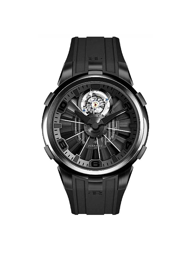 Perrelet Tourbillon Turbine Men''''''''s Automatic in Black PVD Steel