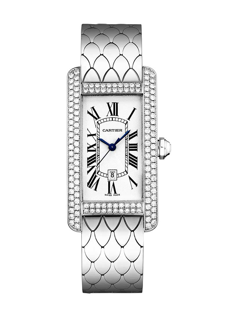 Cartier Tank Americaine with Diamond Bezel