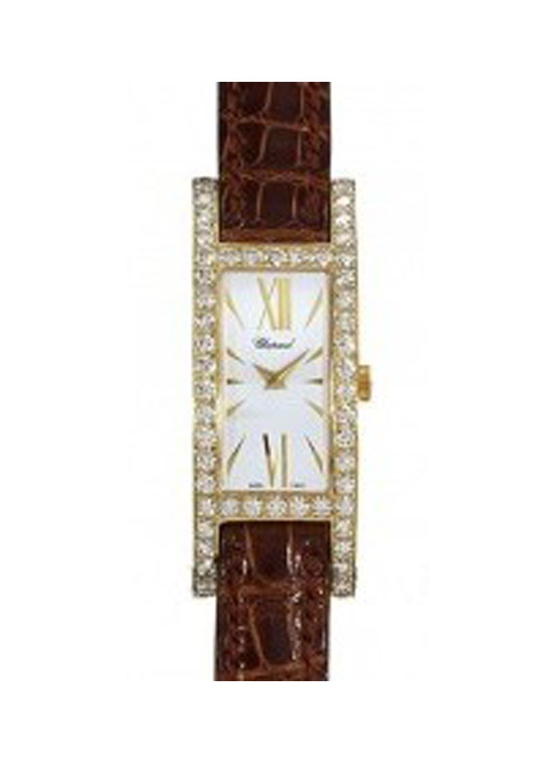 Chopard  H Watch in Yellow Gold with Diamond Bezel