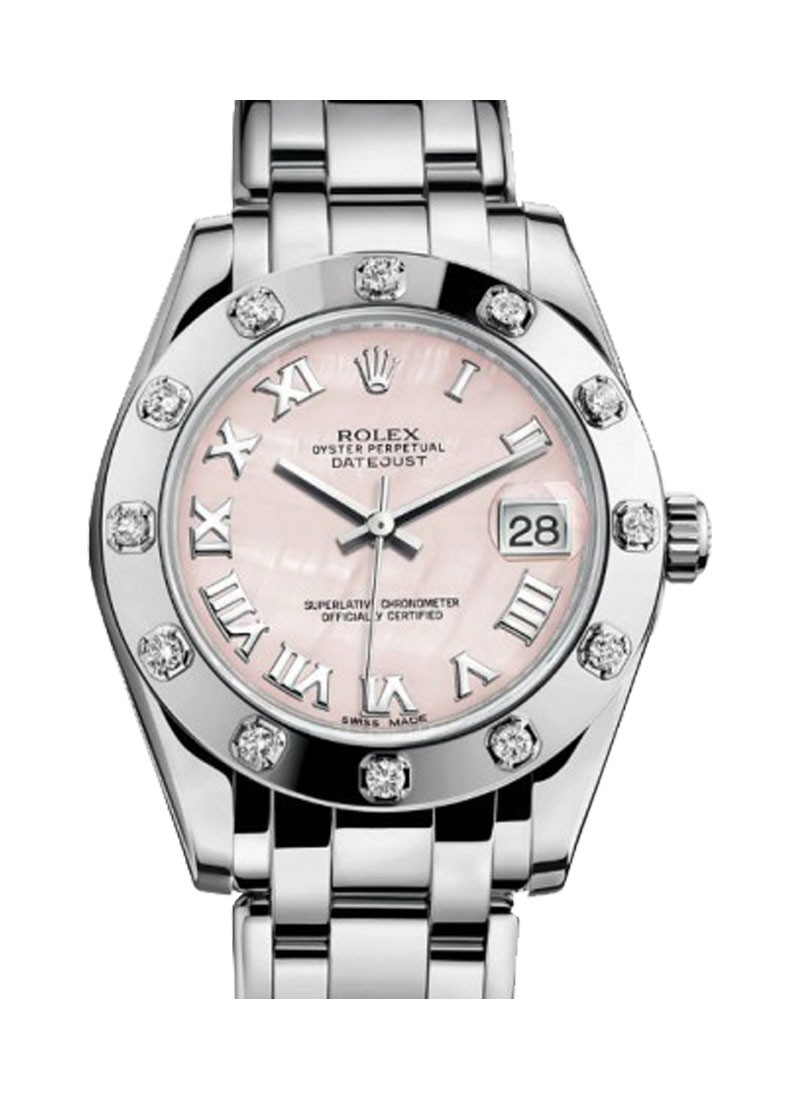 Rolex Unworn Mid Size White Gold Masterpiece 34mm